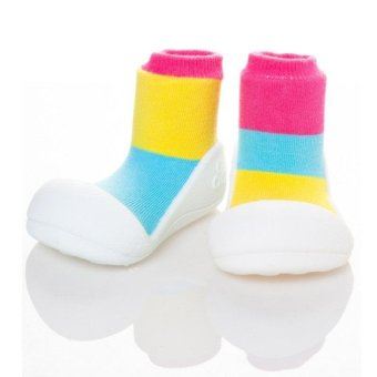 Attipas Baby Shoe Socks with Together Design (Pink)