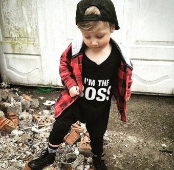 Autumn Baby Boy Long Sleeve Bodysuit Romper 6-24 Months (Black) -Intl - 2