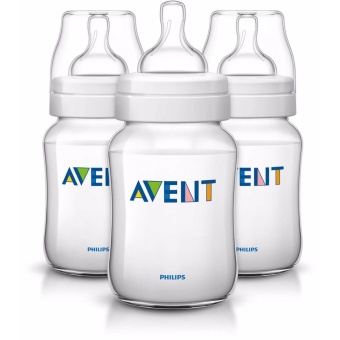 Avent Classic Plus 9oz 3 Bottle Pack - Clear