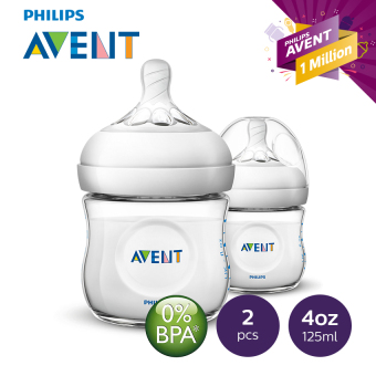 Avent Natural Feeding Bottle 4oz Twin Pack