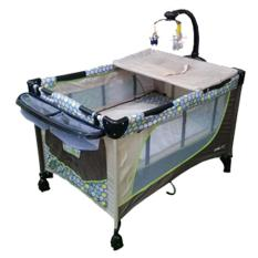 baby 1st crib playpen p510dcr brown
