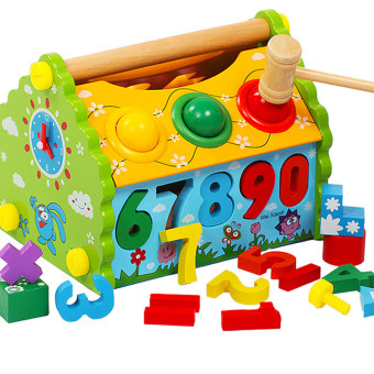 Baby anniversery Number of lettered building blocks puzzle board