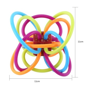 Baby Ball Rattles Play Toy Safe Multifunction Teether (New Red Ball) - intl - 4