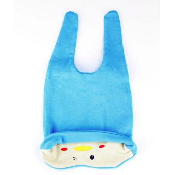 Baby Beanie with Bib Toddler Beanie Hat Soft Cotton Unisex BonnetFood Bib Costume Girls Boys (BLUE) - 4