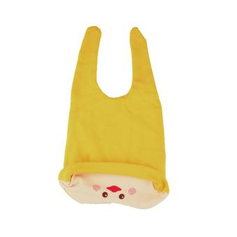 Baby Beanie with Bib Toddler Beanie Hat Soft Cotton Unisex BonnetFood Bib Costume Girls Boys (YELLOW) - 4
