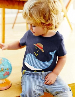 Baby Boy Clothes 2017 Kids Boys Dolphin Short Sleeve T-Shirt+Striped Shorts Tracksuit Outfits for 1-6Years - intl - 3