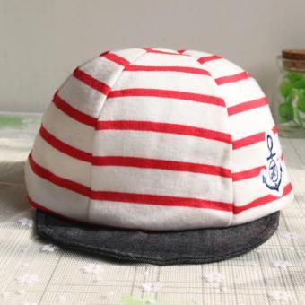Baby Boys Girls Striped Anchor Lucky Hat Infant Newborn Kids Cap - intl - 3