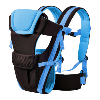 Baby Carrier Breathable Ergonomic Adjustable Wrap (Blue)