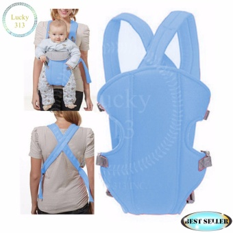 Baby Carrier Sling Wrap Rider Infant Comfort Backpack Light Blue