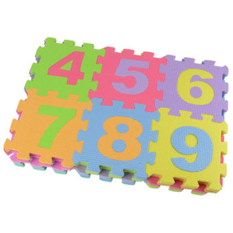 Baby Child Foam Play Letter Print Puzzle Floor Mat (Multicolor) - 5