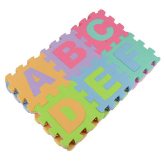 Baby Child Foam Play Letter Print Puzzle Floor Mat (Multicolor) - 4