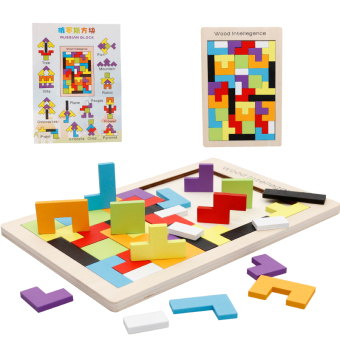 Baby children's wooden made flexible toy puzzle