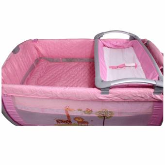 Baby City Play yard Play Pen and Crib with Net (Pink) - 3