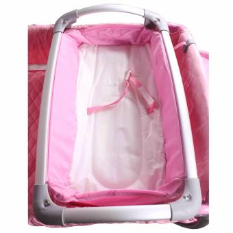 Baby City Play yard Play Pen and Crib with Net (Pink) - 4