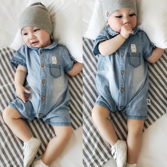 Baby cotton summer baby one-piece onesie cowboy