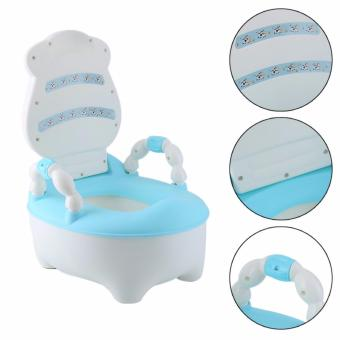 Baby Cow Drawer Potty Training Toilet Seat, Blue - 2