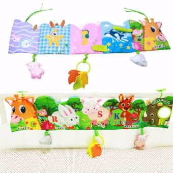 Baby Funny Mobile Cloth Book Educational Animal Crib Bed AroundToys(Giraffe) - intl