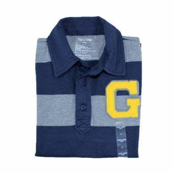 Baby Gap Polo Shirt Gray/Navy Stripe - 3