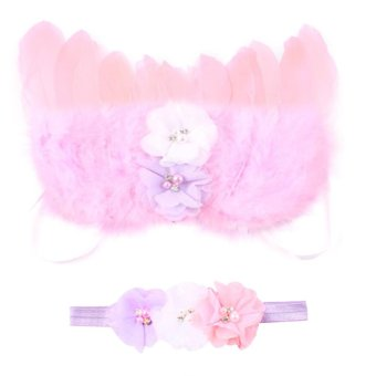 Baby Girls Angel Wings Wing Set Feather Newborn Photography - 2