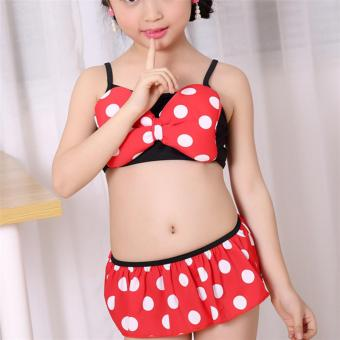 Baby Girls Kids Minnie Mouse Bikini Set Swimwear Child Bathing SwimSuit Costume - intl - 5