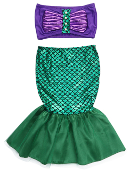 Baby Girls Little Mermaid Costume Dress Swimwear Swimsuit Set -intl Price Philippines