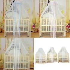 Baby Infant Bed Mosquito Mesh Dome Curtain Net For Toddler Crib CotCanopy