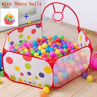 Baby Kids Collapsible Ocean Ball Pool Tent with 50pcs Colorful Balls - Intl