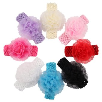 Baby lily Bear Fashion 8pcs Baby Girls Sweeet Cute Headbands HeadBands - intl - 2