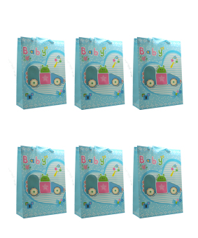 Baby Posh Paper Bag Pack of 6 (Blue)