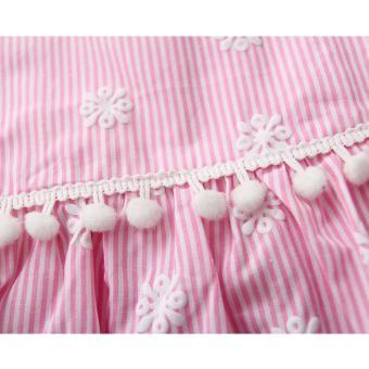 Baby Romper Baby Dress Set Infant Baptismal Dress Toddler Birthday Costume Christening Dress Bodysuit 2pcs Clothing Set Floral Ruffles - 4