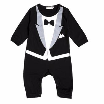 Baby Romper Gentleman Suits (Black)