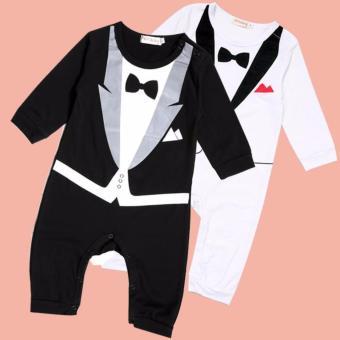 Baby Romper Gentleman Suits (Black) - 5