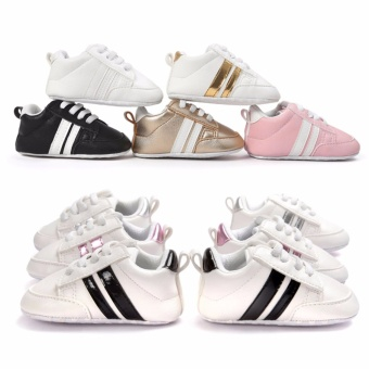 Baby Shoes Soft Bottom Anti-skid PU Leather Shoe For Infant ToddlerBoys Girls(S,Gold) - intl - 3