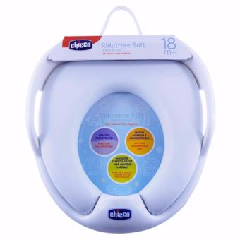 Baby soft potty seat toilet reducer with handle kids trainingadapter children Chicco toilet training seat (White) with SafetyHarness Child Anti Lost Strap (Blue) - 3