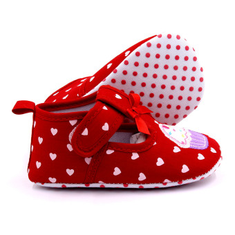 Baby Step Cupcake Hearts Baby Girl Shoes (Red) - 2
