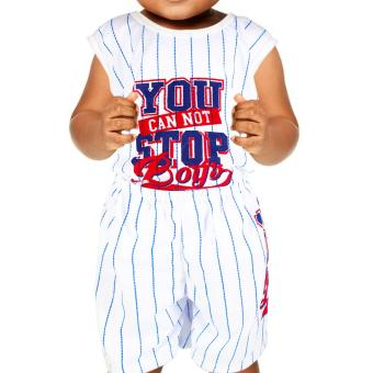 Baby Steps Basic Wear You Can Not Stop Boys Baby Boy Terno Clothing Set