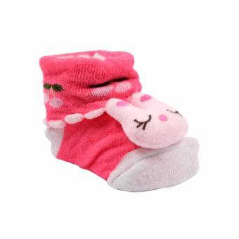 Baby Steps Bunnanie Baby Girl Socks (Pink) - 2