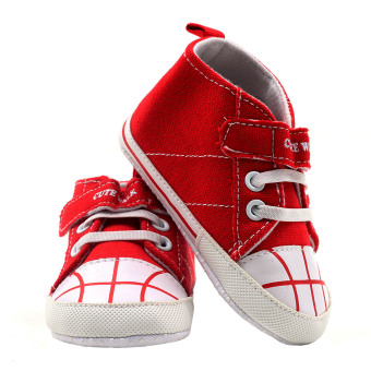 BABY STEPS Cute Walk Ball Baby Boy Shoes (Red) - 3