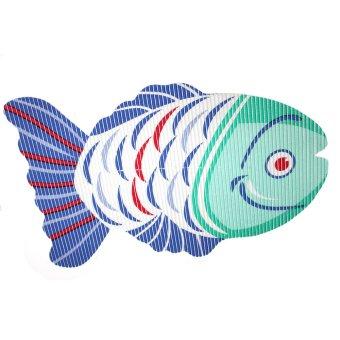 BABY STEPS Fish Anti-Slip Safety Bath Mat (Blue Green)