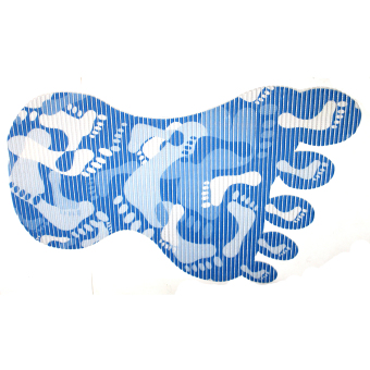 BABY STEPS Foot Print Anti-Slip Safety Bath Mat (Blue)