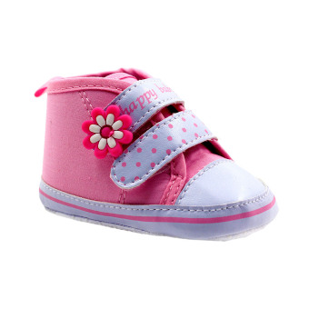 BABY STEPS Happy Baby Dots Baby Girl Shoes (Pink)