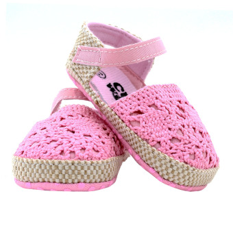 BABY STEPS Knitted Baby Girl Sandals (Pink) - 4