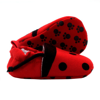 BABY STEPS Lady Bee Baby Girl Cotton Shoes (Red) - 2