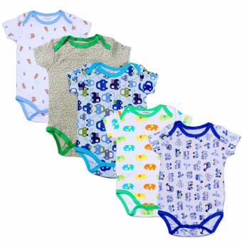Baby Steps Onesie Bodysuit 9 Months Baby Boy Bodysuit Set of 5(Multicolor)