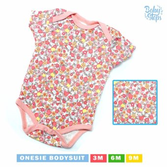 Baby Steps Onesie Paradiso Bodysuit 0-3 Months (Pink)