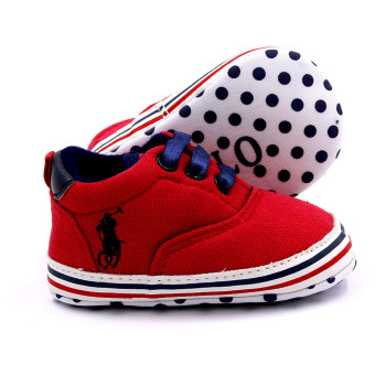 BABY STEPS PolDots Baby Boy Shoes (Red) - 3