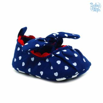 Baby Steps PolkaHearts Baby Girl Shoes (Navy) Price Philippines