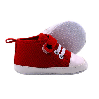 BABY STEPS Star Baby Boy Shoes (Red) - 2