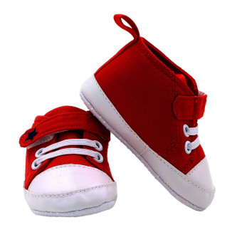 BABY STEPS Star Baby Boy Shoes (Red) - 3