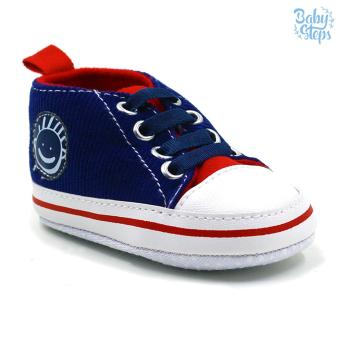 Baby Steps Wimpie Baby Boy Shoes (Blue/Red)